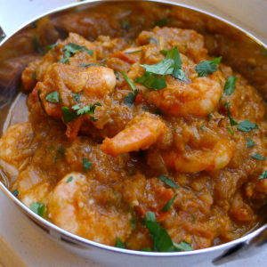 Crevettes Curry Madras