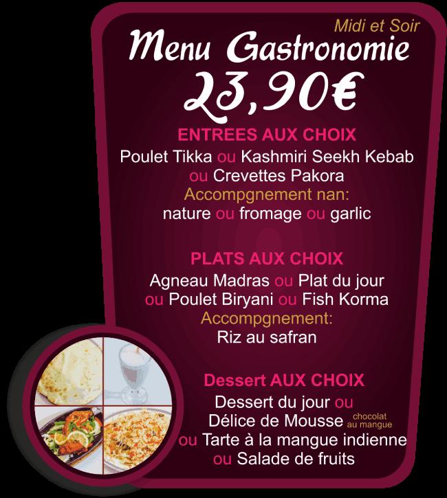 Menu Gastronomie